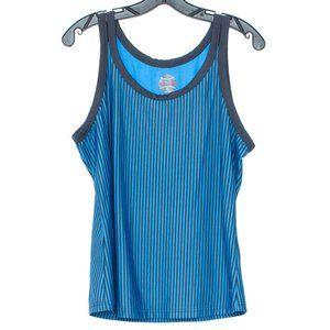 Bolle Womens Tank Top Stripe Blue XL BS